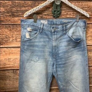 Gap Authentic Boyfriend Distressed Jean